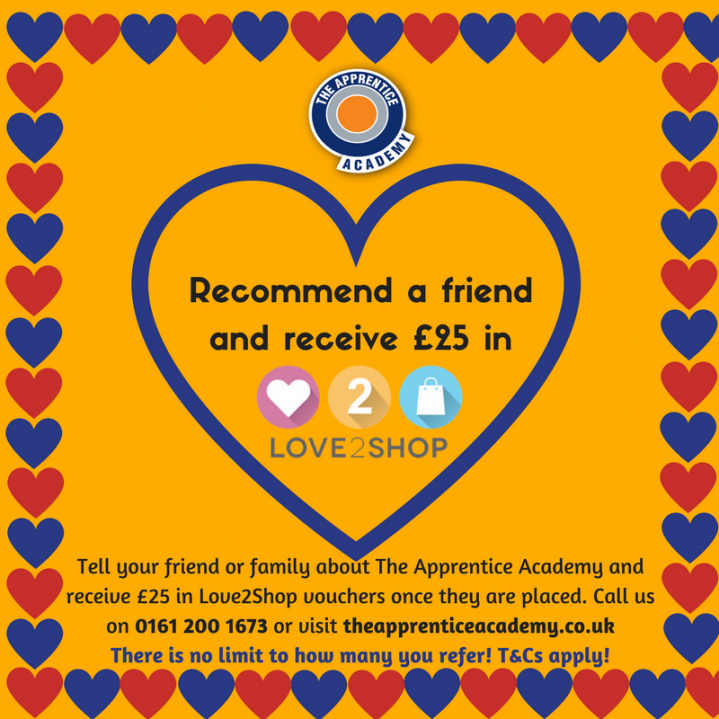 Get £25 by referring a friend! graphic