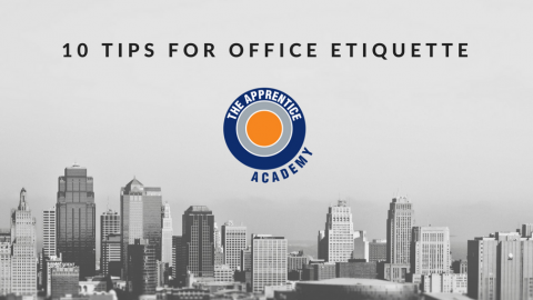 10 Tips for office Etiquette graphic