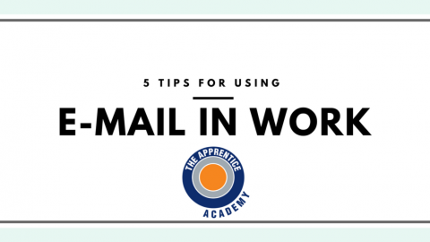 Tips for using email in work graphic