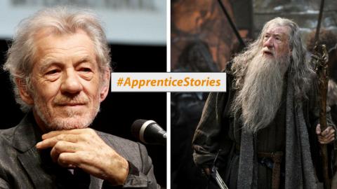Ian McKellen Apprentice Story graphic