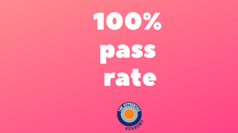 100% pass rate graphic