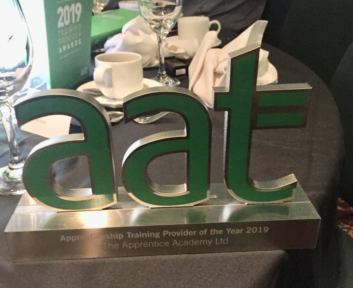 AAT trophy on table