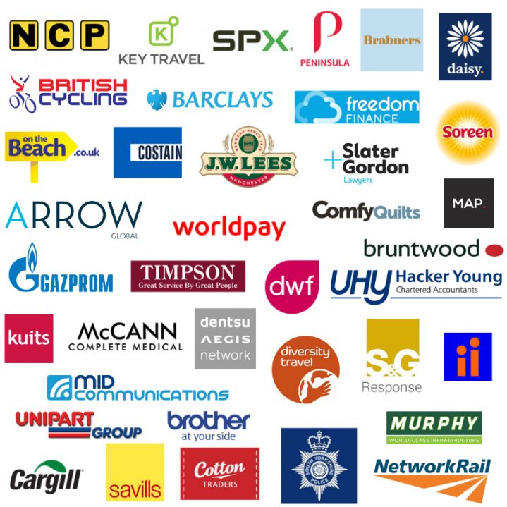 Collage of employers we work with