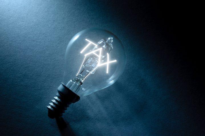 Bulb with tax light inside